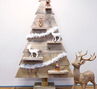 Houten Kerstboom kopen - Steigerhout boom en 3d