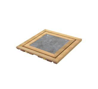 Composiet Terrastegels 50x50.Houten Tuintegels 50x50 100x100 Terrastegels Hout Vlondertegels