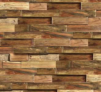 Wandbekleding hout - muurbekleding teak plakhout