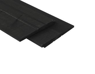 Zwart tuinhout zweeds rabat palen en planken - Zwart gecoat ...