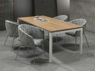 Bureau - vergdertafel wit onderstel en wit kleurig blad 200x100cm