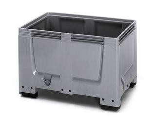 Pallet box gesloten met 4 poten 120 x 80 x 79 cm