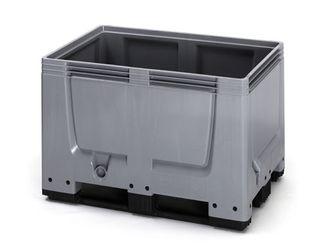 Pallet box gesloten met 3 sledes 120 x 80 x 79 cm