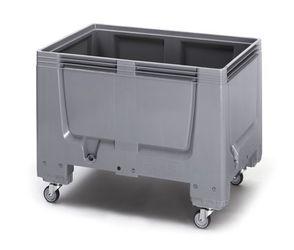 Pallet box gesloten met 4 wielen 120 x 80 x 93 cm