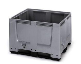 Pallet box gesloten met 3 sledes 120 x 100 x 79 cm