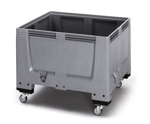 Pallet box gesloten met 4 wielen 120 x 100 x 93 cm