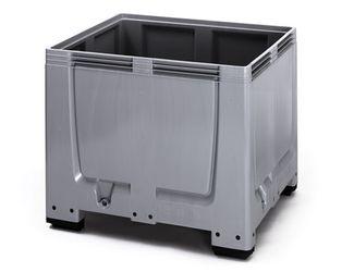 Pallet box gesloten met 4 poten 120 x 100 x 100 cm