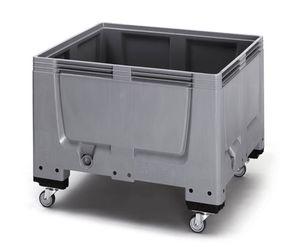 Pallet box gesloten met 4 wielen 120 x 100 x 114  cm