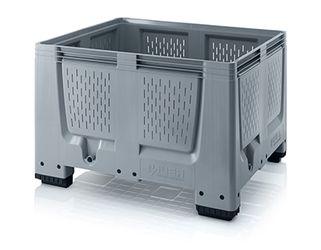 Pallet box ventilatiesleuven met 4 poten 120 x 100 x 79 cm