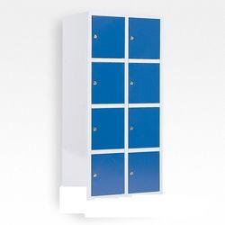 SSI Schafer 8 deurs locker kast blauw