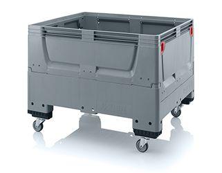 Pallet box inklapbaar met 4 wielen 120 x 100 x 93 cm
