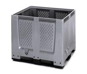 Pallet box ventilatiesleuven met 3 sledes 120 x 100 x 100 cm