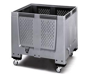 Pallet box ventilatiesleuven met 4 wielen 120 x 100 x 114  cm