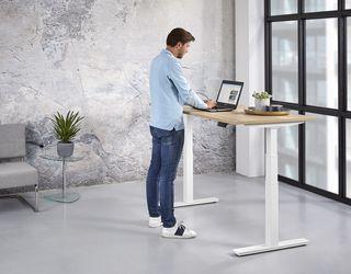 Elektrische zit-sta werkplek 140x80cm tot 130cm hoog Leverbaar in 30 Kleur Combinaties