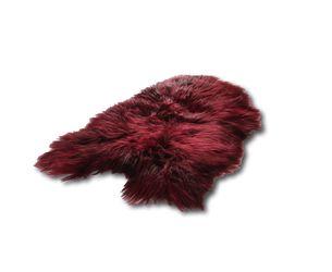 Icelandic Sheepskin Burgundy Red