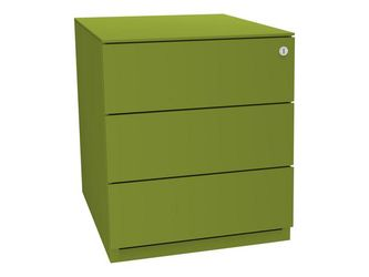 Bisley Basic Verrijdbaar Ladeblok met 3 Laden, 502 x 420 x 565 mm, Groen