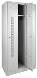 Garderobekast Perfo 3-deuren 180 x 90 x 50cm Leverbaar in 2 Kleur Combinaties