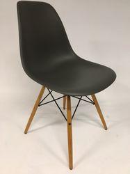 Vitra Eames DSW Plastic Side Chair Basalt