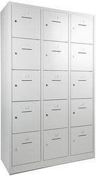 Lockerkast 15-deurs 190 x 120 x 45cm in 5 Kleur Combinaties