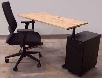 Thuiswerkplek Set Compleet Budget | Bureaustoel + Bureau + Ladeblok