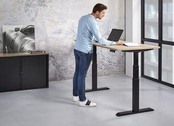 Elektrische zit-sta werkplek 120x80cm Leverbaar in 44 Kleur Combinaties