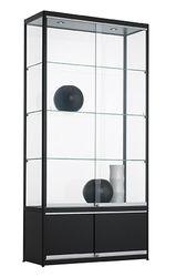 Vitrinekast Met Onderkast 200x100x40cm Zwart Of Aluminium
