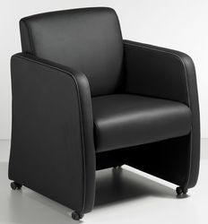 Clubfauteuil zwart leatherlook