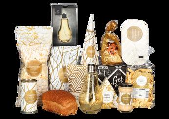 Kerstpakket Golden decolamp pakket