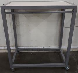 Kledingrek Verrijdbaar Metaal/Hout 120x60x135cm 1