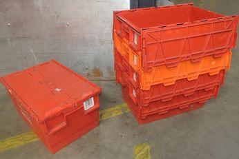 nestbare Distributiekist Multifunctionele stapelbak inclusief 2-delige deksel 60x40x41cm