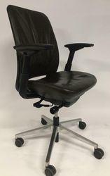 Bureaustoel Steelcase Amia Bruin Leer gebruikt