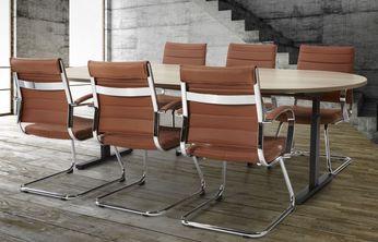 Vergadertafel Ovaal Easy 240x120cm Leverbaar in 33 Kleur Combinaties