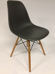Vitra Eames DSW Plastic Side Chair Basalt