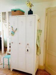 Garderobekast Lockerkast Kledingkast 2 Deurs Nieuw Leverbaar in 2 kleur combinaties
