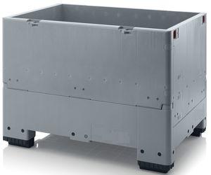 Pallet box inklapbaar met 4 poten 500 liter 120x80x88cm