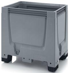 Pallet box gesloten met 4 poten 80x60x79cm