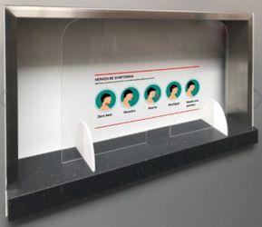 Veiligheidsscherm van Plexiglas