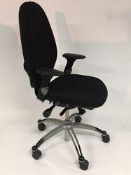 RH Extend 120 Hoge Rug Bureaustoel Zwart