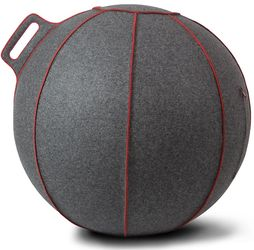 Vluv Zitbal VELT Grey Melange Red 60-65cm