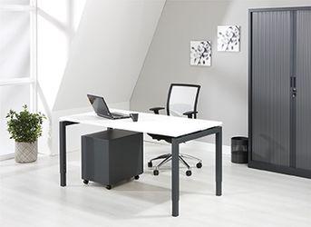 Bureau - vergdertafel antraciet onderstel en wit kleurig blad 160x80cm