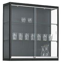 Vitrinekast 100x100x30cm Zwart Of Aluminium