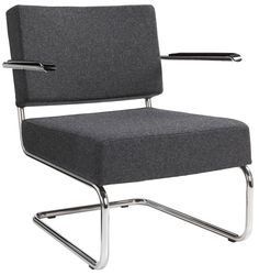 Design Fauteuil Benevento‎ In Antraciet Viltstof