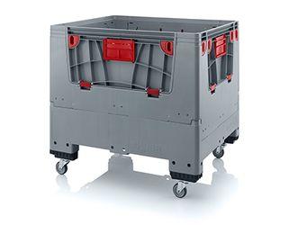 Pallet box opvouwbaar met 4 wielen 120 x 100 x 114  cm