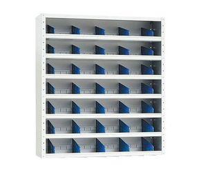 Vakkenkast grijs 108x100x30 incl 36 vakverdelers