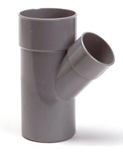 PVC verloop T-stuk 45 graden lijmspie