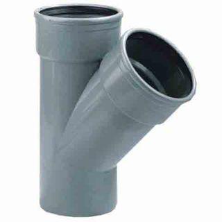 PVC T-STUK 2 X MA/S 125 SN 8 45°