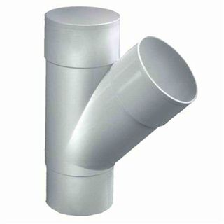 PVC T-STUK M/VS WIT 45°