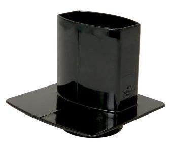nicoll-ovation-zwart-hwa-overgangstuk-met-grondplaat