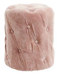 Nordal Poef Velvet Dusty Rose w/Buttons
