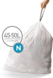 Afvalzak - N - 45 Liter - Wit - Simplehuman